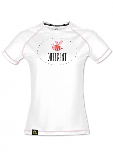 Koszulka sportowa Bee Different White